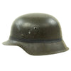 show larger image of product view 2 : Original German WWII M42 Army Heer Helmet with Foliage Rubber Band and 57cm Liner - hkp64 Original Items