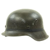show larger image of product view 6 : Original German WWII M42 Army Heer Helmet with Foliage Rubber Band and 57cm Liner - hkp64 Original Items