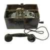 show larger image of product view 1 : Original German WWII 1939 dated Feldfernsprecher FF 33 Field Telephone by F. Merk Telefonbau Original Items
