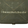 show larger image of product view 2 : Original German WWII Gasschutzhaube Medical Head Wound Gas Mask Can - dated 1940 Original Items