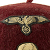 show larger image of product view 3 : Original German WWII French-Made Waffen SS Maroon Parade Fez for Foreign Volunteers - dated 1940 Original Items