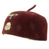 show larger image of product view 4 : Original German WWII French-Made Waffen SS Maroon Parade Fez for Foreign Volunteers - dated 1940 Original Items
