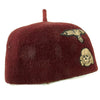 show larger image of product view 8 : Original German WWII French-Made Waffen SS Maroon Parade Fez for Foreign Volunteers - dated 1940 Original Items