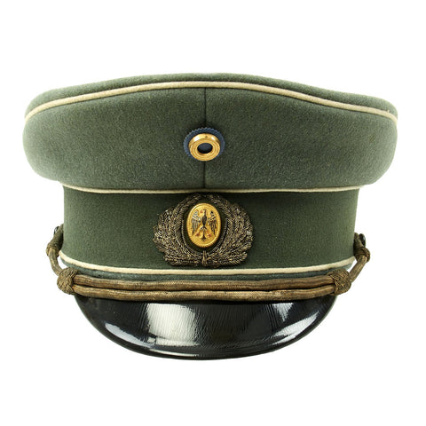 Original German Pre-WWII Weimar Republic Reichsheer Infantry Officer Visor Cap with Blue & Gold Cockade Original Items