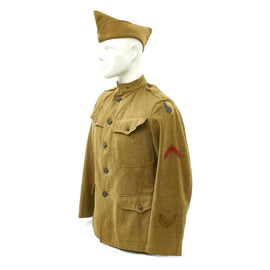 Original U.S. WWI 29th Infantry Division Uniform - Jacket and Overseas Cap