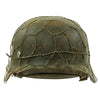 show larger image of product view 3 : Original German WWII Army Heer M40 Chicken Wire Steel Helmet with 57cm Liner - SE64 Original Items