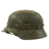 show larger image of product view 2 : Original German WWII Army Heer M40 Chicken Wire Steel Helmet with 57cm Liner - SE64 Original Items