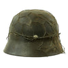 show larger image of product view 5 : Original German WWII Army Heer M40 Chicken Wire Steel Helmet with 57cm Liner - SE64 Original Items