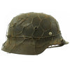 show larger image of product view 1 : Original German WWII Army Heer M40 Chicken Wire Steel Helmet with 57cm Liner - SE64 Original Items