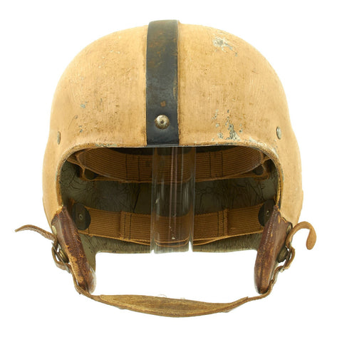 Original U.S. Early WWII Airborne Paratrooper Training Football Helmet by Riddell Original Items