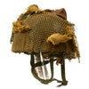 show larger image of product view 2 : Original Belgian Post WWII British Style Paratrooper Helmet with Net and Burlap Camo Original Items