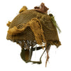 show larger image of product view 3 : Original Belgian Post WWII British Style Paratrooper Helmet with Net and Burlap Camo Original Items
