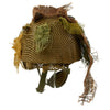 show larger image of product view 4 : Original Belgian Post WWII British Style Paratrooper Helmet with Net and Burlap Camo Original Items