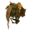 show larger image of product view 5 : Original Belgian Post WWII British Style Paratrooper Helmet with Net and Burlap Camo Original Items