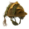 show larger image of product view 6 : Original Belgian Post WWII British Style Paratrooper Helmet with Net and Burlap Camo Original Items