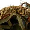 show larger image of product view 11 : Original Belgian Post WWII British Style Paratrooper Helmet with Net and Burlap Camo Original Items