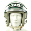 "show larger image of product view 9 : Original U.S. 1980s ""Lucky Charm"" HGU-26/P Flight Helmet with Single Visor and Chinese Mig-29 Oxytgen Mask Original Items"