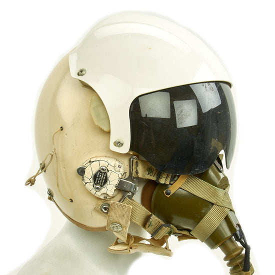 Original U.S. Vietnam War HGU-26/P Flight Helmet with Double Visor, Oxygen Mask and 1965 Dated Flight Suit Original Items