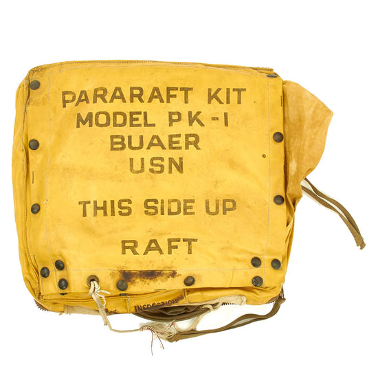 Original U.S. WWII Bauer Pararaft Kit Model PK-1 USN Original Items