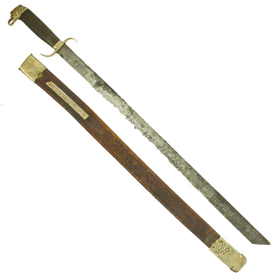 Original Spanish Officers Pioneer Machete Sword by Luckhaus & Günther in Scabbard Captured in Cuba, 1898 Original Items