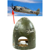 show larger image of product view 1 : Original German WWII Focke-Wulf Fw 190 Nose Cone Spinner - Jagdgeschwader 53 JG53 Original Items