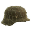 show larger image of product view 1 : Original German WWII Army Heer M42 Chicken Wire Steel Helmet - marked hkp66 Original Items