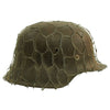 show larger image of product view 4 : Original German WWII Army Heer M42 Chicken Wire Steel Helmet - marked hkp66 Original Items