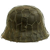 show larger image of product view 5 : Original German WWII Army Heer M42 Chicken Wire Steel Helmet - marked hkp66 Original Items