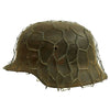 show larger image of product view 2 : Original German WWII Army Heer M42 Chicken Wire Steel Helmet - marked hkp66 Original Items