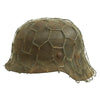show larger image of product view 6 : Original German WWII Army Heer M42 Chicken Wire Steel Helmet - marked hkp66 Original Items