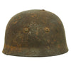 show larger image of product view 5 : Original German WWII Netherlands Battlefield Pickup Shot-through M38 Luftwaffe Fallschirmjäger Paratrooper Helmet Original Items