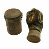 show larger image of product view 2 : Original Imperial German WWI M1917 Ledermaske Leather Gas Mask with Can & Filter - dated 1918 Original Items