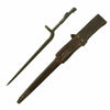show larger image of product view 2 : Original U.S. WWII M1941 Johnson Rifle Bayonet with Leather Scabbard Original Items