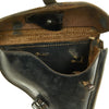 show larger image of product view 9 : Original German WWII 1939 dated P08 Luger Black Leather Holster by K.W.K. with Loading & Stripping Tool Original Items
