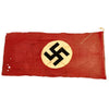 "show larger image of product view 7 : Original German WWII Service Worn NSDAP National Flag Small Political Banner - 29"" x 63"" Original Items"