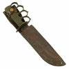 show larger image of product view 3 : Original U.S. WWII USMC Customized Blade Marked KA-BAR Knife with WWI Mark 1 Trench Knife Brass Grip Original Items