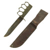 show larger image of product view 2 : Original U.S. WWII USMC Customized Blade Marked KA-BAR Knife with WWI Mark 1 Trench Knife Brass Grip Original Items