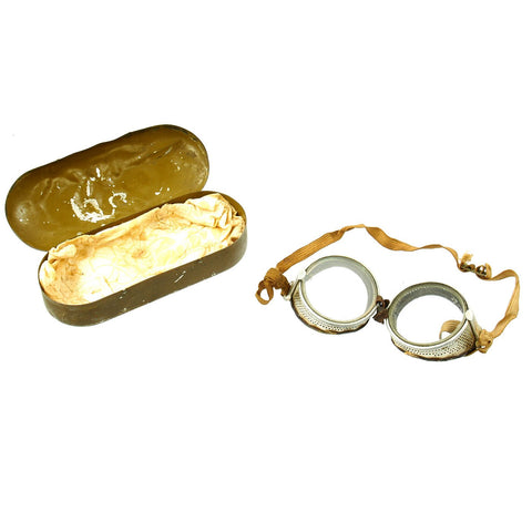 Original U.S. WWI Air Service Flying Goggles by Willson with Original Case Original Items