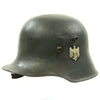 show larger image of product view 6 : Original German WWII Reissued M18 Army Heer Single Decal Steel Helmet with 55cm Liner - marked B.F 64. Original Items