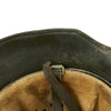 show larger image of product view 13 : Original German WWII Reissued M18 Army Heer Single Decal Steel Helmet with 55cm Liner - marked B.F 64. Original Items