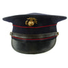 show larger image of product view 9 : Original U.S. WWII Marine Dress Blue Uniform Visor Cap - Dated 1933 Original Items