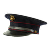 show larger image of product view 2 : Original U.S. WWII Marine Dress Blue Uniform Visor Cap - Dated 1933 Original Items