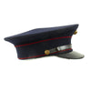 show larger image of product view 5 : Original U.S. WWII Marine Dress Blue Uniform Visor Cap - Dated 1933 Original Items