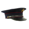 show larger image of product view 3 : Original U.S. WWII Marine Dress Blue Uniform Visor Cap - Dated 1933 Original Items