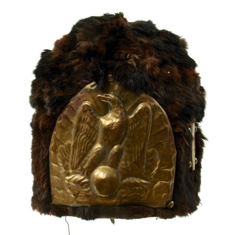 Original French Napoleonic Replica Old Guard Style Bearskin Helmet Original Items