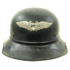 show larger image of product view 1 : Original German WWII M38 Luftschutz Beaded Gladiator Air Defense Helmet - marked & dated 1940 Original Items