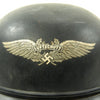 show larger image of product view 3 : Original German WWII M38 Luftschutz Beaded Gladiator Air Defense Helmet - marked & dated 1940 Original Items