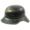 show larger image of product view 4 : Original German WWII M38 Luftschutz Beaded Gladiator Air Defense Helmet - marked & dated 1940 Original Items