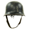 show larger image of product view 3 : Original German WWII Battle Damaged M34 Square Dip NSDAP Civic Police Steel Helmet Original Items