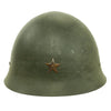 show larger image of product view 1 : Original Japanese WWII Type 92 Army Combat Helmet Period Repainted Green & dated 1942 - Tetsubo Original Items